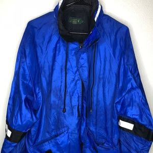 Vintage J Crew Green Label Blue Rain Reflective